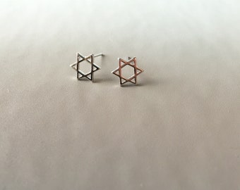 Sterling Silver Star Studs Earrings