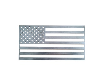 Metal American Flag - Murica, Stars and Stripes, Patriotic Decor, Home Decorations, Military Sign, God Bless America