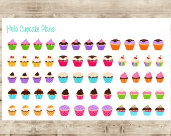 Cute Cupcake Planner Stickers