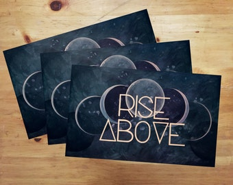 Rise Above Original Art 11x17 Poster