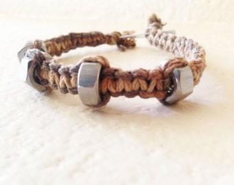 Industrial Nut Hemp Bracelet