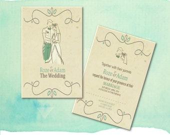 Romantic Wedding Invitation - (printable) - diy  by ShalvisDesign