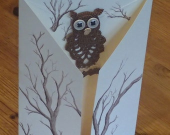 Card and owl gift