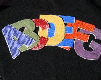 Alphabet Rag Letters