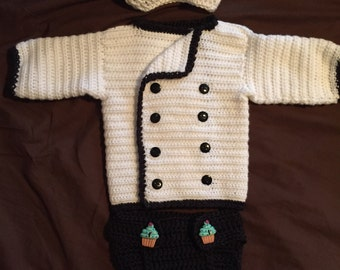 Baby Chef Sweater Set