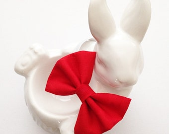 Plain coloured bow ties for rabbits, rabbit bows and accessories