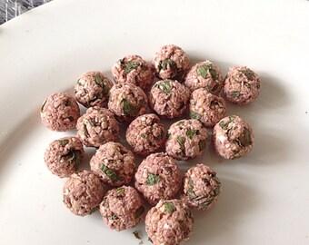 Mint and mixed berries digestive assist pops, rabbit treats