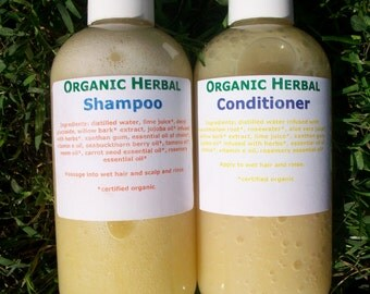 Organic Herbal Shampoo and Conditioner