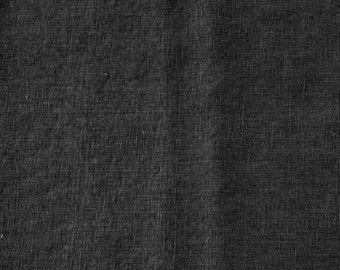 Washed Linen Fabric - Black