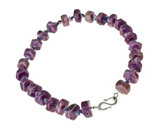 Rubies and Iolites Necklace