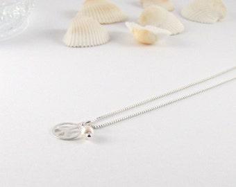 Peace I delicate necklace I Silver 925