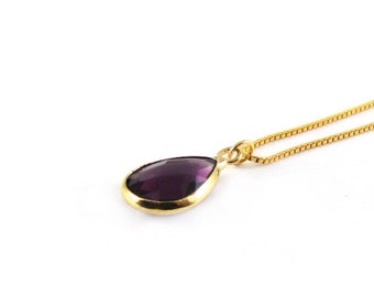 Necklace * violet * 925 gold