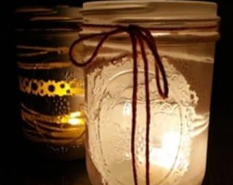 Painted Glass Jar Luminaries