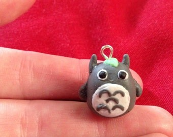 My neighbour totoro kawaii cute polymer clay charm for jewelery or keychains!