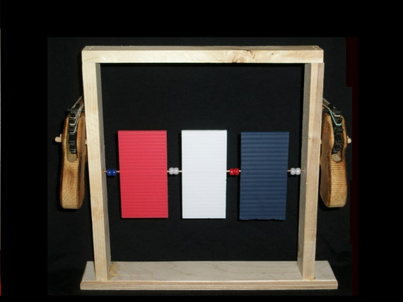 Rubber Band Pistol Target Set; Wooden Toy, Wooden Rubber Band Gun ...