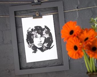 Jim Morrison Inkling print