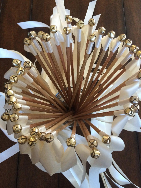 100 wedding ribbon wands for Wedding wands