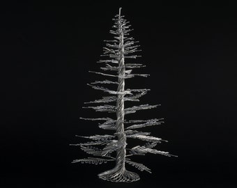 Wire Tree Sculpture of The Homey Pine, Pine Tree, by OnceWire