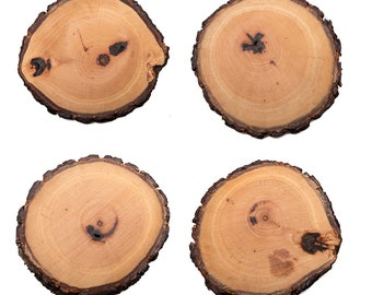 Tung Oil Rustic Coasters set of 4