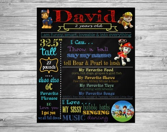 Second Birthday Chalkboard/2nd Birthday Chalkboard/Paw Patrol Decorations/Paw Patrol Party/Paw Patrol Theme/Paw Patrol Chalkboard/Sign