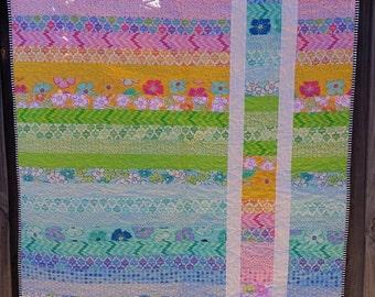 IN STOCK - Stripe Baby/Toddler Quilt