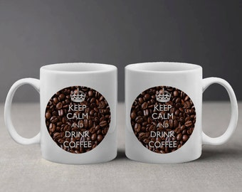 Keep Calm and Drink Coffee Cool Design Mug M036