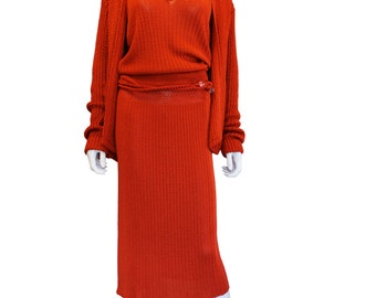 Burtn orange Missoni knitted outfit