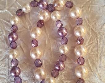White and Violet Bracelet