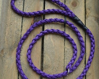 Purple Braided Cord Dog Slip Lead - Ideal for Gun Dog training