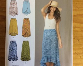Simplicity 1662, skirts, pattern, sewing pattern, xs-XL
