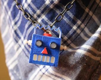 Robot Pendant Necklace