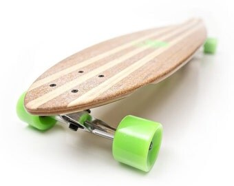 White Wave Bamboo Pintail Longboard