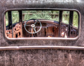 Through the Rear Window: Still life art photography prints for home or office wall decor.