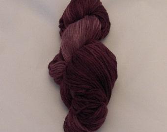Merlot- Merino Sport Weight Yarn- Hand Dyed- OOAK