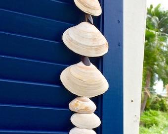 Shell Decor, Shell Windchime, Shell Wall Hanging, Single Strand