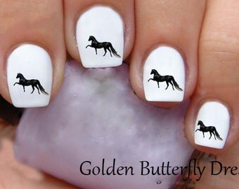 1046 Horse Waterslide Nail Art Decals Enough For 2 Manicures