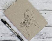 Minimalist handmade pocket a6 notebook, travelers book, christmas gift, diary, scandinavian design⎢kraft cover, plain blank squared paper⎢