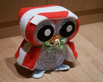 OWL gift of diapers for babies