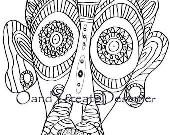 Face Drawing Book, Dzen-Art, Anti-stress, Drawing for Relax, Drawing for Fun