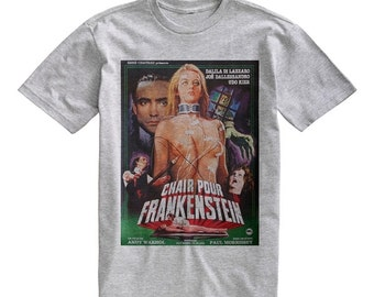 Classic Chair Pour Frankenstein T-Shirt Gray Tee Shirt Size S M L XL