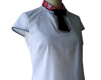 Top white collar shirt tie Manzo