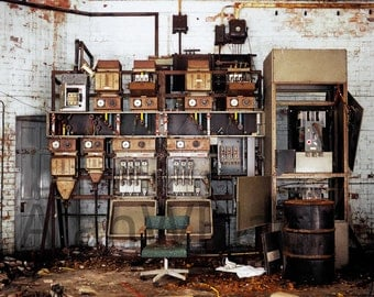 abandoned print, wall art print, urban decay, derelict asylum, urban, rustic photography, art photography, machine, asylum photography, art