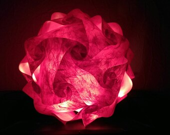 Design globe lamp in enchanting red - handmade