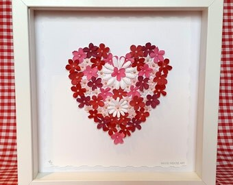 Blush Heart.  Beautiful, handmade keepsake artwork to give for any occasion.