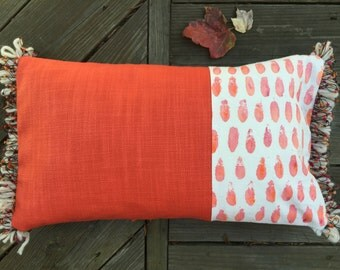 Hand painted decorative pillow