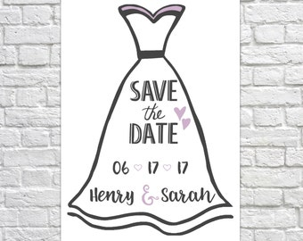 Save The Date, Printable Save The Date, Save The Date, Save The Dates, Wedding Invitations, Save The Date Invitations - Choose Your Color