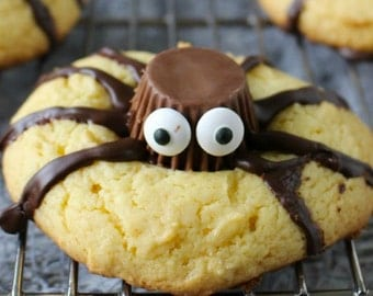 Peek-a-Boo Spider Halloween Cookies, Halloween Cookies
