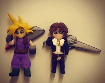 Commission Final Fantasy Fridge Magnet, 100% Polymer Clay, Personalized to you.