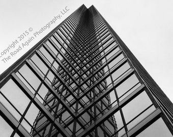 Dallas Photography, Architectural Wall Art, Abstract Photography, Dallas Black & White Photograph, Architectural Photography, City Decor