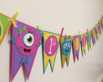 Girly Monster Birthday